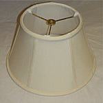 Silk Shantung Swing Arm shade with Piping