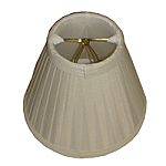 Empire polyester soft roll pleat chandelier lampshade with fabric lining