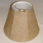 Faux Leather Uno Shade with white lining