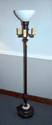 Antique Floor Lamps On Four Bulb Lamp