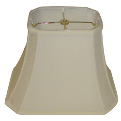 Rectangle Cut Corner Silk Shantung Lamp Shade with Fabric Lining