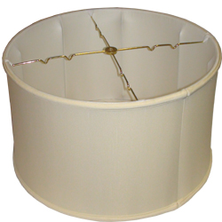 Shallow Drum Silk Shantung Lampshade with Fabric Lining