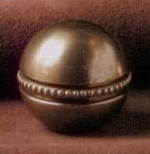 Beaded Ball 25mm Lamp Finial in Antique Brass