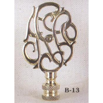 Williamsburg Cipher Solid Brass Lamp Finial
