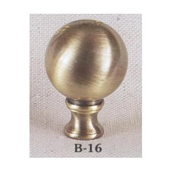 Solid Brass Antiqued Sphere Lamp Finial