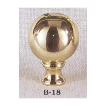 Solid Brass Polished Sphere Lamp Finial