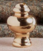 Knob Lamp Finial in Polished Brass