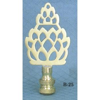 Brass Pineapple Silhouette Lamp Finial