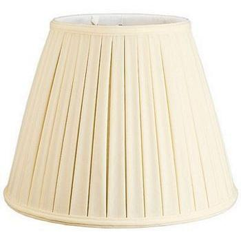 Empire Box Pleat Silk Shantung Lampshade with Fabric Lining