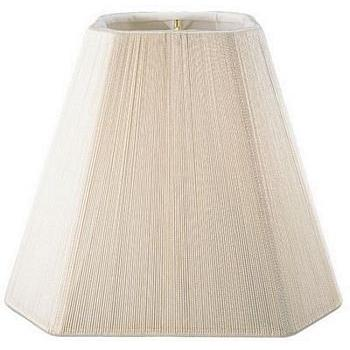 Square Cut Corner Silk String Shade with Hand Sewn Soft Lining