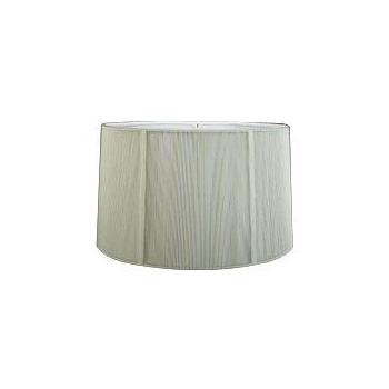 Shallow Drum Silk String Shade with Hand Sewn Soft Lining