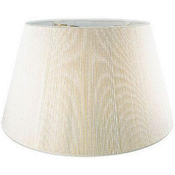Silk Cord Floor Lamp Shade with Hand Sewn Soft Lining