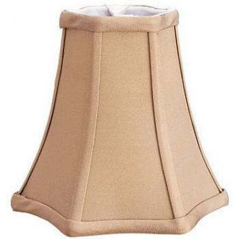 Bell Star Pure Pongee Silk Shade with Piping