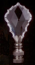 Gothic Lamp Finial in Crystal Polished Nickel
