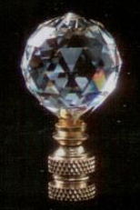 Faceted Ball 30mm Lamp Finial in Crystal