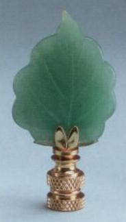 Adventurine Leaf Fan Pull Chain