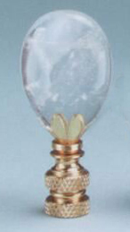 Teardrop Lamp Finial in Rock Crystal