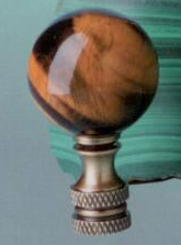 Ball 30mm Lamp Finial in Tiger Eye