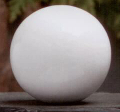 White Ball 1.5 inch Lamp Finial in Wood Finial