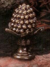 Pinecone Lamp Finial in Antique Metal