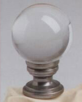 Crystal Ball 30mm Lamp Finial in Brushed Nickel