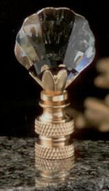 Seashell Lamp Finial in Crystal