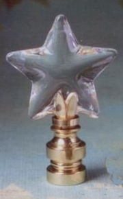 Starfish Lamp Finial in Glass