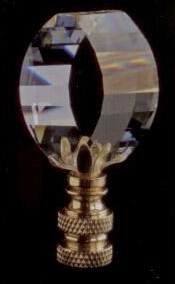 Illusion Lamp Finial in Crystal