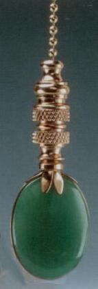 Adventurine Oval Fan Pull Chain