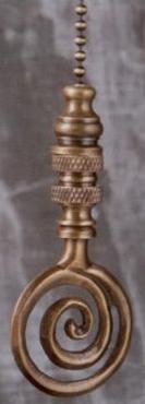 Antique Brass Whirlpool Fan Pull Chain
