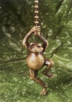 Antique Metal Dancing Frog Fan Pull Chain