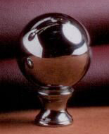 Sphere 32mm Lamp Finial in  Polished Nickel