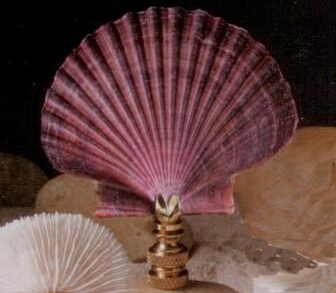 Mexican Flat Lamp Finial in Seashell Finial