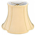 French oval silk shantung lampshade with fabric lining