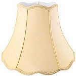 Bell Scallop Top & Bottom Silk Shantung Lampshade with Fabric Lining