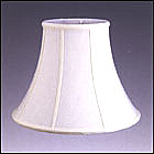 Bell Silk Shantung Lampshade with fabric lining