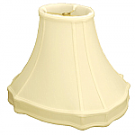 Oval Bell Gallery Silk Shantung lampshade with White Fabric Lining