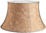 Faux Leather Floor Lampshade with White Lining