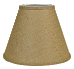 Burlap Empire Lamp Shade